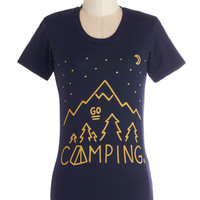 MNKR Travel Mid-length Short Sleeves Less is S'more Tee