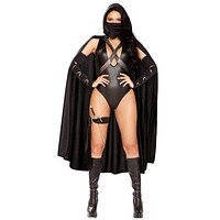 Sexy Hidden Ninja Warrior Romper Costume