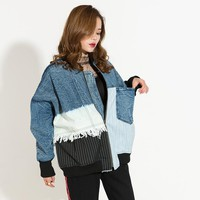 Retro Denim Bomber Jacket