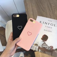 Hot Deal On Sale Stylish Cute Iphone 6/6s Korean Simple Design Matte Phone Case [46978859020]