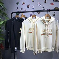 Gucci Fashion Long Sleeve Hooded Print Embroider Casual Sweater