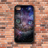 Alice in Wonderland Cheshire Cat Nebula Galaxy iPhone 4/4s/5, Samsung Galaxy S3/S4 & iPod 4/5 Case. Choose the option