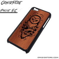 Owl Wood Case For Iphone 5C Case