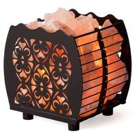Heart Grid Healthy Himalayan Salt Lamp LIght