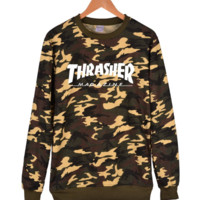 Thrasher Unisex Camouflage Pullover Sweater