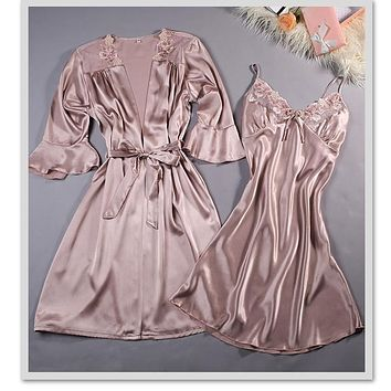 Silky 2 Piece Negligee and Matching Robe