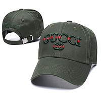 GUCCI Fahion Women Men Embroidery Sport Sunhat Baseball Cap Hat
