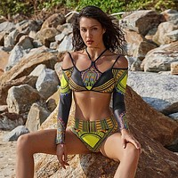 Long Sleeve African Bikini