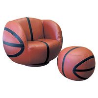You should see this Basketball Chair & Ottoman Set in Brown on Daily Sales!