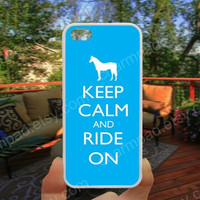 Horse Keep calm and ride on iphone 4/4s case iphone 5/5s/5c case samsung galaxy s3/s4 case galaxy S5 case Waterproof gift case 281