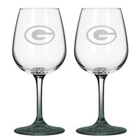 NFL Green Bay Packers Satin Etched Wine Glasses (Set of 2)