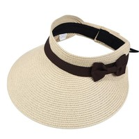 Sports Hat Cap trendy  Women Summer Sun Hat Large Wide Brim Visor Straw Hats Foldable Beach Cap Cute Bowtie Floppy Caps Outdoor Sports UV Protection KO_16_1