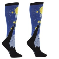 Starry Night Women's Knee Socks by Sock it To Me - Whimsical & Unique Gift Ideas for the Coolest Gift Givers