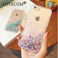 Glitter Stars Dynamic Liquid Quicksand Soft Cover Phone Case For Iphone 6 6S 6Plus 6SPlus