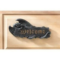 Medieval Dragon Welcome Sign Plaque
