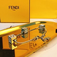 Fendi Woman Fashion Accessories Fine Jewelry Ring & Chain Necklace & Earrings