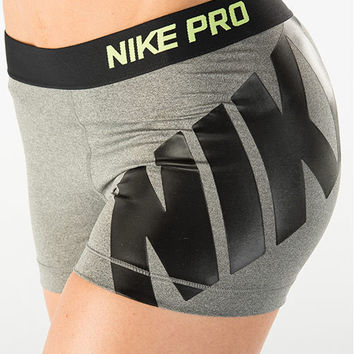 """Nike"" Fashion Print Exercise Fitness Gym Yoga Running Sports Shorts"
