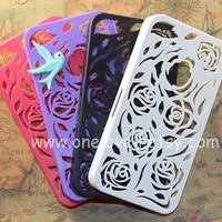 4 color for choice, Floral iphone 4s Case, mint bird in the floral case for Iphone case cover,iphone 4 cover