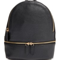 Girly Faux Leather Mini Zip Backpack | Nordstrom