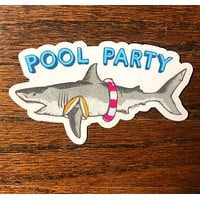 Pool Party - All weather vinyl sticker