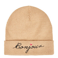 Bonjour Embroidered Beanie - New In This Week - New In - Topshop USA