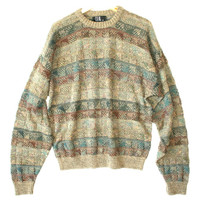 Textured Squares Olive Green Cosby / Golf Sweater - The Ugly Sweater Shop