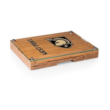 Army Black Knights - Concerto Glass Top Cheese Cutting Board & Tools Set, (Bamboo)
