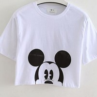 hcxx Summer mickey mouse croptop shirt