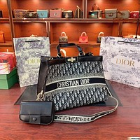 Dior new simple shopping bag mother bag two-piece set