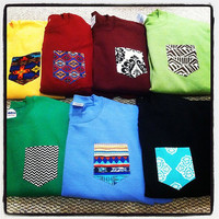 SMALL Custom crew cut sweatshirts with pocket by tailoredhope