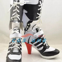 Batman Suicide Squad Harley Quinn Movie Halloween Cosplay Costumes Shoes Boots High Heels Custom Made For Adult Women Euro Size