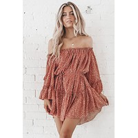 She Makes Her Own Way Off The Shoulder Mini Dress