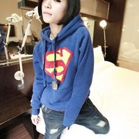 Cool Superman Logo Long Sleeve Hoodie Top Sweater MS0140 from MooChiStyle