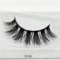 100% Handmade Eye Lashes 3D Real Mink Makeup Thick Fake False Eyelashes With Glitter Packing D108