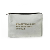 Good For Your Soul Canvas Pouch ~ Blue