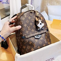 LV Louis Vuitton New Woman Cute Leather Daypack Bookbag Shoulder Bag Backpack School Bag