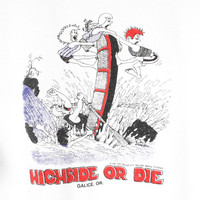 80s whitewater rafting shirt - vintage 1980s - high side or die - 1987 - galice oregon - river - white water rafting