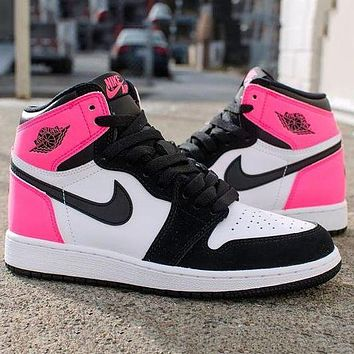 "Nike Air Jordan 1 High GS ""Valentines Day"" Basketball Shoes Sneakers Shoes"