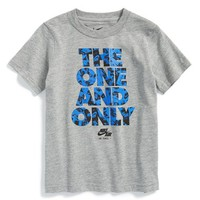 Toddler Boy's Nike 'The One and Only' Graphic T-Shirt, Size 4T - Grey