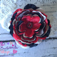 Baby Headband, Posh Red Black Couture Baby Headband, Newborn Headband, Infant Hair Band, Newborn photography props, Canada