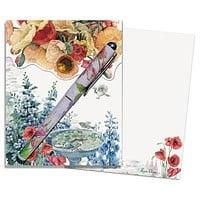 Poppies Matchbook Notepad w Pen