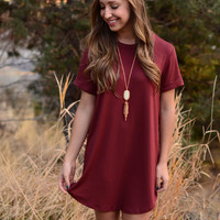 Tempered Class Dress - Rust
