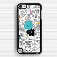 letter Ipod touch 4 case,graffiti-art IPod touch 5 case,cartoon style IPod 5 case,teens Ipod 4 case, touch 4 case, touch 5 case