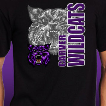 Carver Wildcats Vertical T-Shirt