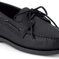 Sperry Top-Sider Authentic Original 2-Eye Boat Shoe Black, Size 9W  Men's Shoes
