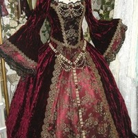Gothic Renaissance or Medieval Fantasy Wedding Set Custom