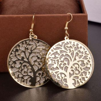 Tree Of Life Earrings, Gold