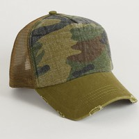 OAKS DESIGNS CAMO TRUCKER HAT