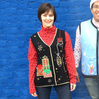 Gifts and Ornaments Tacky Ugly Christmas Sweater Vest