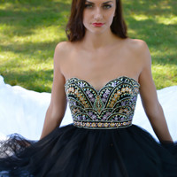 Angela & Alison 52046 In Stock Black Cocktail Dress Homecoming Short Prom $350